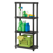 "Organize-It 4-Tier 12"" x 24"" Resin Shelving System"
