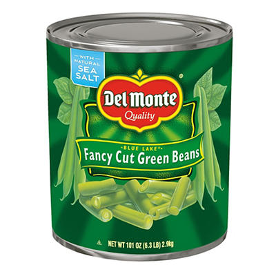Del Monte Blue Lake Fancy Cut Green Beans, 101 oz.