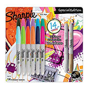 Sharpie Fine Permanent Markers, 12 ct. + 2 Bonus Metallic