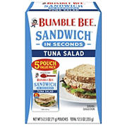 Bumble Bee Sandwich in Seconds Tuna Salad Pouches, 5 pk./2.5 oz.