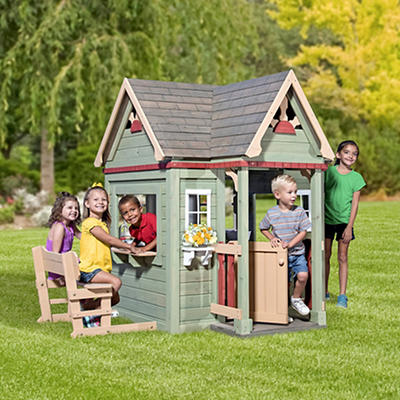 Backyard Discovery Victorian Inn Wooden Playhouse