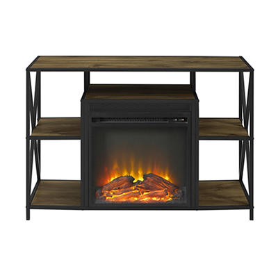 "W. Trends 40"" Fireplace Stand - Barnwood"