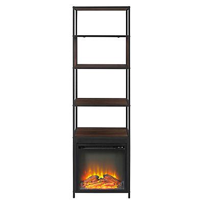 """W. Trends 70"""" Fireplace Tower - Dark Walnut"""