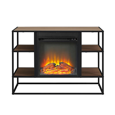 "W. Trends 40"" Fireplace Stand - Mocha"