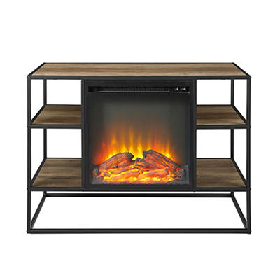 "W. Trends 40"" Fireplace Stand - Rustic Oak"