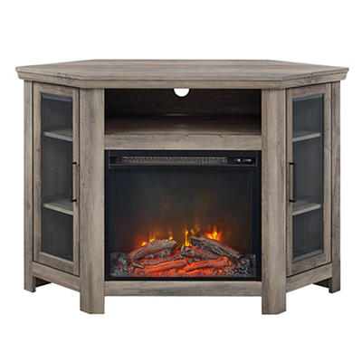 "W. Trends Hector 48"" Fireplace TV Stand for TVs Up to 52"" - Gray Wash"