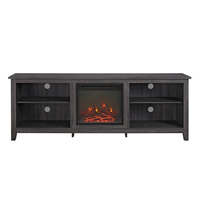 "W. Trends 70"" Fireplace TV Console - Charcoal"