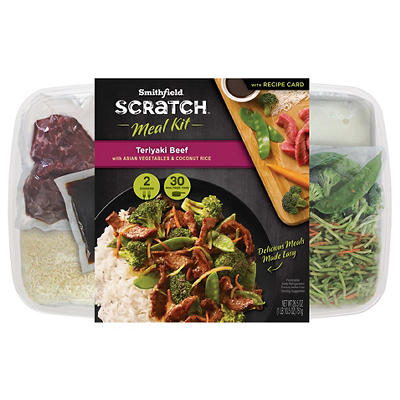 Smithfield Scratch Teriyaki Beef Meal Kit, 26.5 oz.