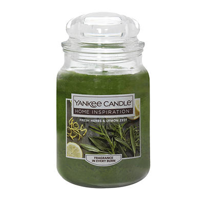 Yankee Candle Jar Candle, 19 oz. - Fresh Herbs & Lemon Zest