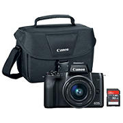 Canon EOS M50 24.1MP CMOS Camera With 32GB SDHC and Bag