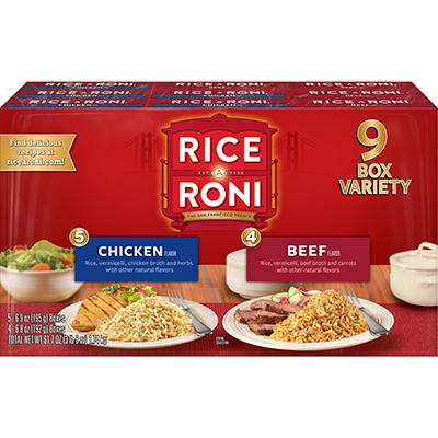Rice A Roni Chicken and Beef Variety Pack, 9 pk./7 oz.
