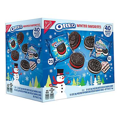 Nabisco Oreo Winter Favorites Variety Pack, 40 pk./1.02 oz.