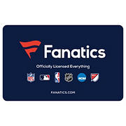 $50 Fanatics Gift Card, 2 pk.