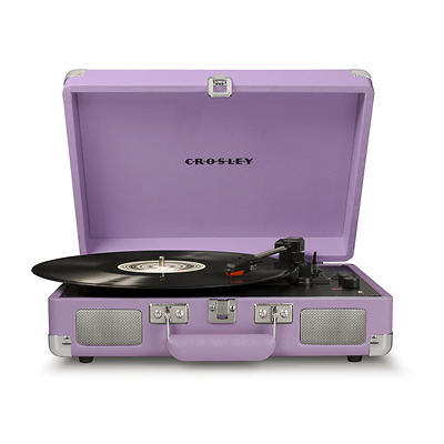 Crosley Cruiser Deluxe Fabric-Covered Portable Turntable with Bluetoot