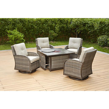 Berkley Jensen Casco Bay 5-Piece Fire Pit Chat Set