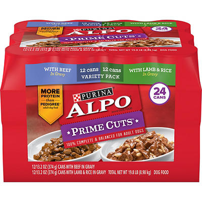 Purina ALPO Prime Cuts Beef Wet Dog Food, 24 ct./13.2 oz.