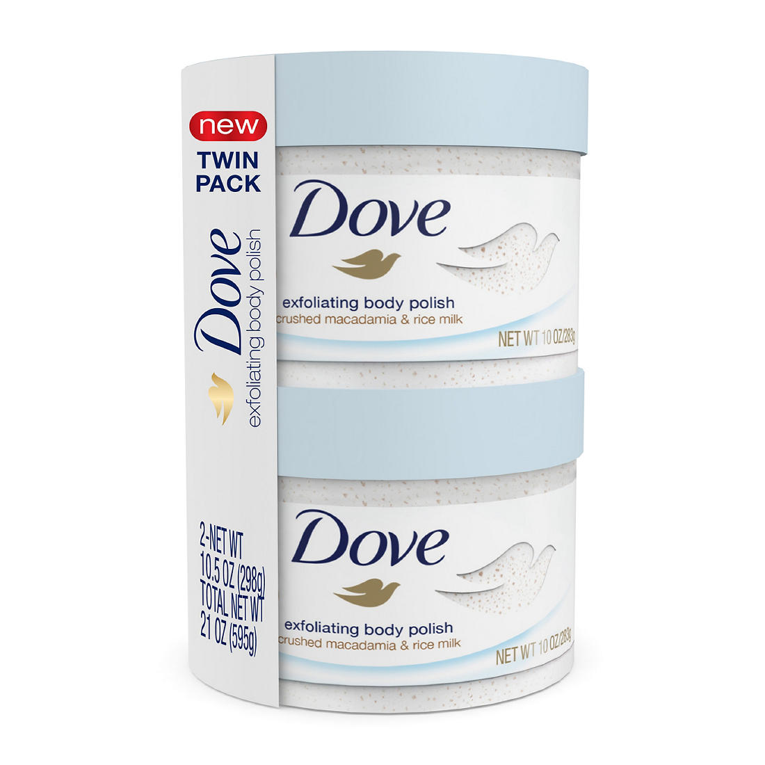 Dove Exfoliating Body Polish 2 Pk 10 5 Oz Bjs Wholesale Club