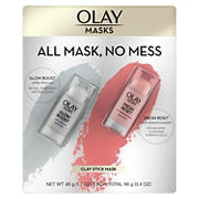 Olay Mask Clay Stick Face Mask Multi-Pack, 2 pk./1.7 oz.