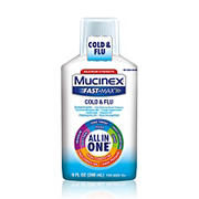 Mucinex Fast-Max Cold & Flu All-in-One Liquid, 2 pk.