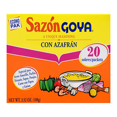 Goya Sazon Con Azaf, 3 ct./3.52 oz.