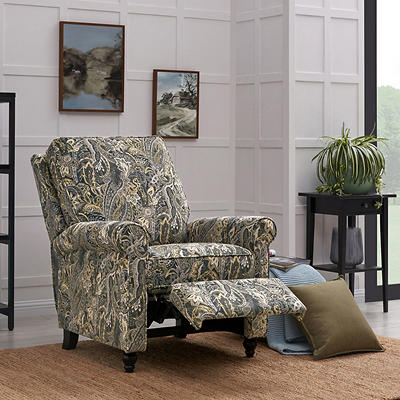 ProLounger Push-Back Recliner - Gray Paisley