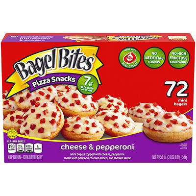 Ore-Ida Cheese & Pepperoni Bagel Bites, 72 ct.