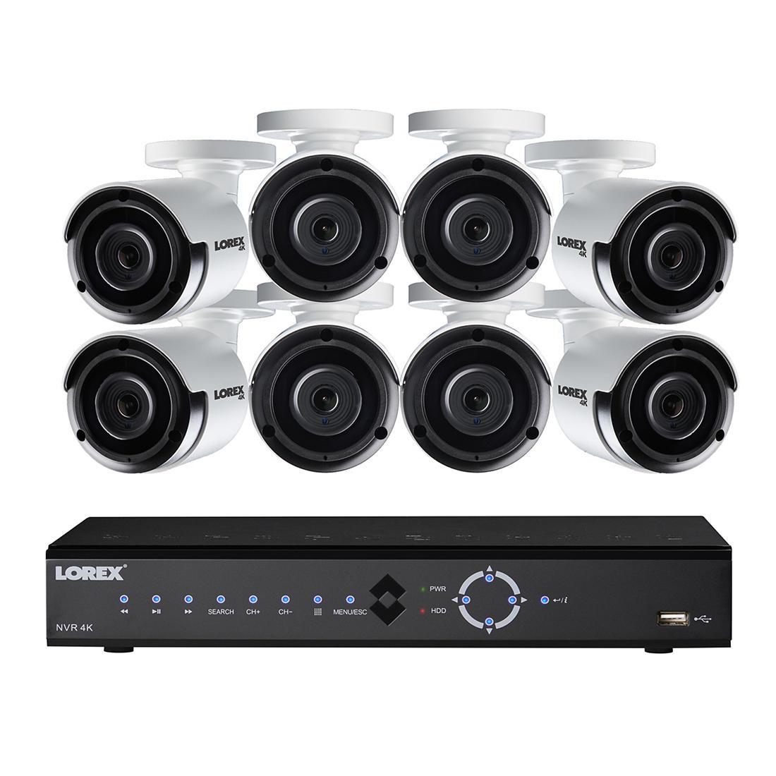 Lorex 16-Channel 8-Camera 4K Security System with 3TB HDD NVR