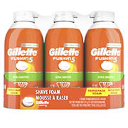 Gillette Fusion5 Ultra Sensitive Shave Foam, 3 pk./11 oz.