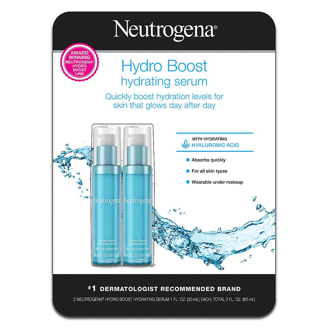 Neutrogena Hydro Boost Hydrating Serum, 2 pk /1 fl  oz