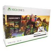 Xbox One S Minecraft 1TB Gaming Console Bundle