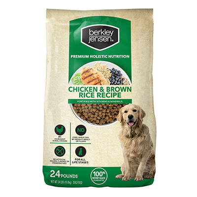 Berkley Jensen Chicken and Brown Rice Recipe For Dogs, 24 lbs.