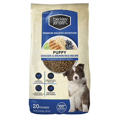 Berkley Jensen Chicken and Brown Rice Dry Dog Food For Puppies, 20 lbs.