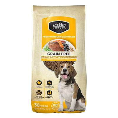 Berkley Jensen Grain Free Turkey and Sweet Potato Recipe For Dogs, 30