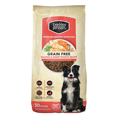 Berkley Jensen Grain Free Salmon and Sweet Potato Dry Dog Food, 30 lbs