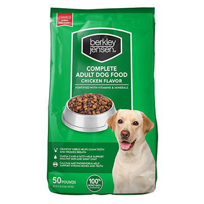 Berkley Jensen Chicken Flavored Complete Adult Dry Dog Food, 50 lbs.