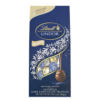 Lindt Lindor Assorted Dark Chocolate Truffles, 19 oz.