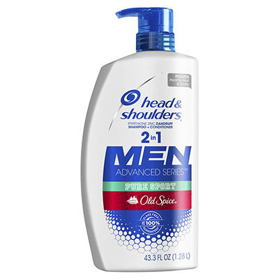 Head and Shoulders Old Spice Pure Sport Dandruff 2 in 1 Shampoo and Co