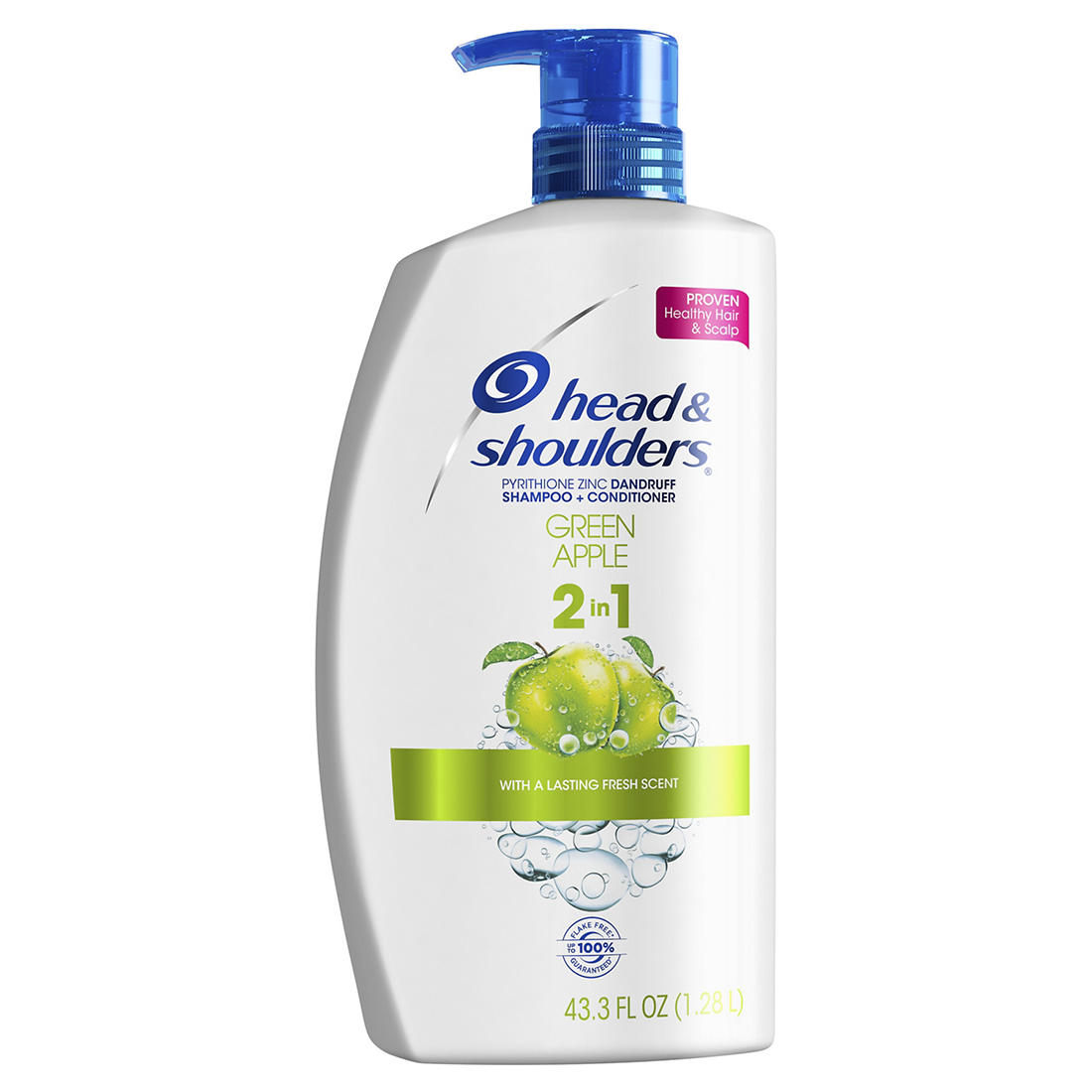 6bad204adcd4 Head and Shoulders Green Apple Anti-Dandruff 2 in 1 Shampoo and  Conditioner, 43.3 fl. oz.