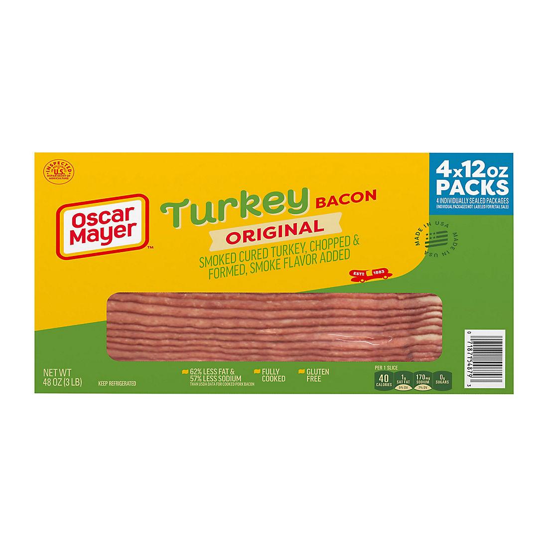 Oscar Mayer Turkey Bacon, 4 pk./48 oz