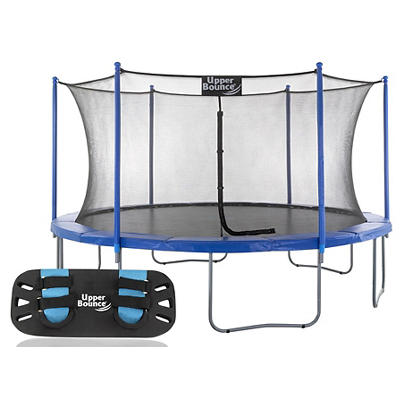 Upper Bounce 16' Round Trampoline with Jumping Skate