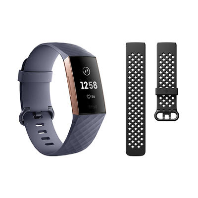 Fitbit Charge 3 Activity Tracker with Bonus Band - Small