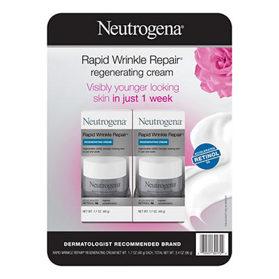 Neutrogena Rapid Wrinkle Repair Regenerating Face Cream, 2 pk./1.7 fl.