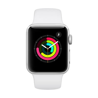 Apple Watch Series 3 GPS with Silver Aluminum Case, 38mm - White Sport