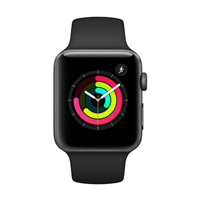 Apple Watch Series 3 GPS with Space Gray Aluminum Case, 38mm - Black S