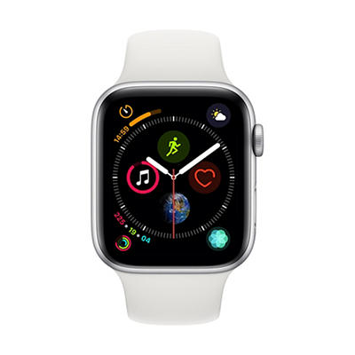 Apple Watch Series 4 GPS with Silver Aluminum Case, 40mm - White Sport