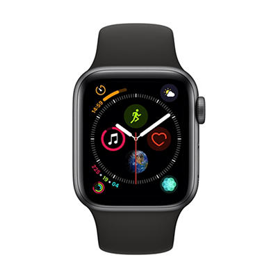 Apple Watch Series 4 GPS with Space Gray Aluminum Case, 40mm - Black S