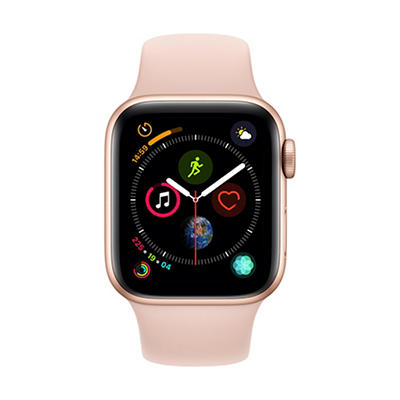 Apple Watch Series 4 GPS with Gold Aluminum Case, 40mm - Pink Sand Spo