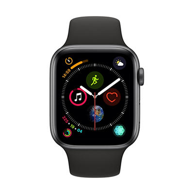 Apple Watch Series 4 GPS with Space Gray Aluminum Case, 44mm - Black S
