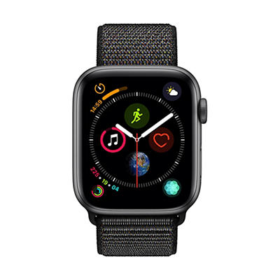 Apple Watch Series 4 GPS with Space Gray Aluminum Case, 44mm - Black Sport Loop