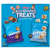 Kellogg's Rice Krispies Treats Poppers Marshmallow Squares Variety Pack, 22 ct.